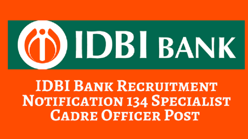 IDBI Bank Specialist Cadre Officers Recruitment 2021